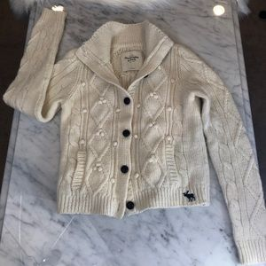 A&F Mohair cable knit sweater